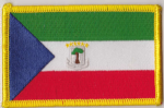 Equatorial Guinea Embroidered Flag Patch, style 08.